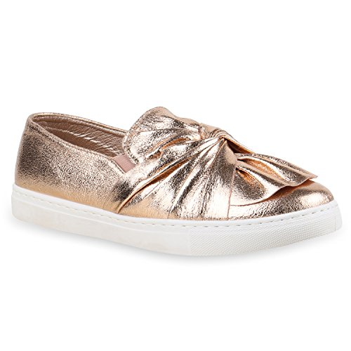 Sapatilhas Das Senhoras Deslizamento-ons Moer Metálicos Sapatos Chinelo De Lazer Ouro Rosa