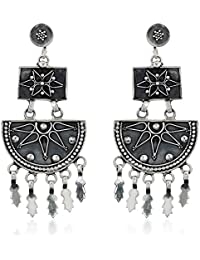 Ahilya Jewels Dakshin collection .925 Sterling Silver Hanging Earrings