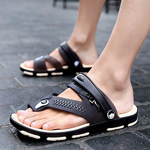 chaussures de plage dété, pantoufles hommes, pieds tongs, sandales, pantoufles étudiants antidérapants black