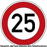 10-29 (km/h) VZ Verkehrszeichen, Verkehrsschild als Geburtstagsschild 60 cm Durchmesser, Aluminium Reflektierend (25)