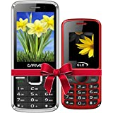 G'Five G9(Black)+GLX W5 Red COMBO OF TWO Basic Feature Mobile Phone With WIRELESS FM & 1 Year Manufacturer Warranty