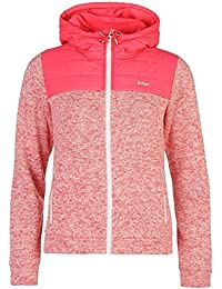 Lee Cooper acolchado Knit sudadera con cremallera y capucha para mujer rosa sudadera con capucha chaqueta sudadera, rosa, XS