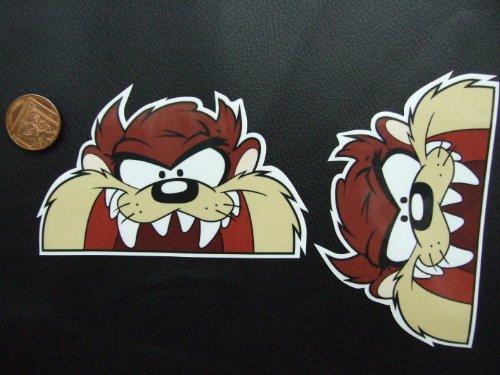 lot-de-2-taz-tasmanian-devil-hoodride-sticker-autocollants-en-vinyle-jdm-vw-de-la-derive