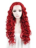 Die besten IMSTYLE Lace Front Perücken - Imstyle Rot-wein Mais-Gelockt Lace Front Wig Perücke Spitzenfrontseite Bewertungen