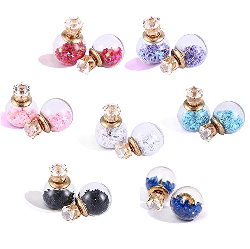 Valentine Gifts : YouBella Jewellery Combo of 7 Two Sided Crsytal Fancy Party Wear Earrings for Girls and Women