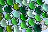 30 St. Deko Mosaiksteine Glasnuggets 15-21mm Grünmix ca. 130g