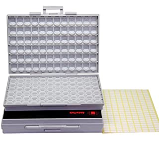 Two units of SMD SMT Resistor Capacitor 1206 0805 0603 Box Organizer Craft Beads Storage 144 Compartments for each box by AideTek