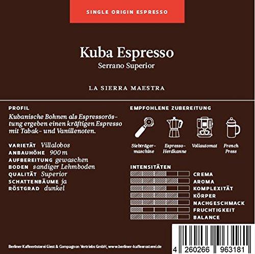 Kuba Espresso 125g Bohne
