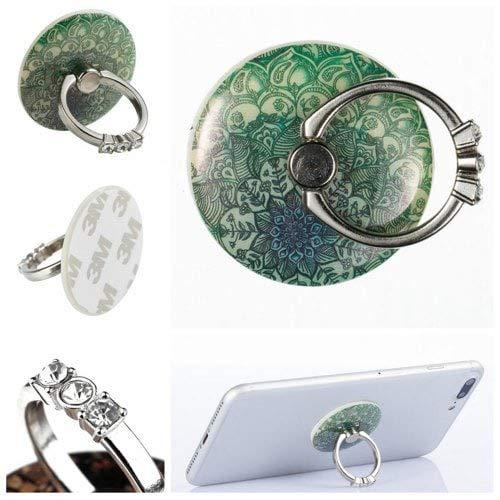 RanDal Telefon Fingerring Halter Schreibtisch Tablet Ständer 360 Grad Aufkleber Auf Geräten Mandala