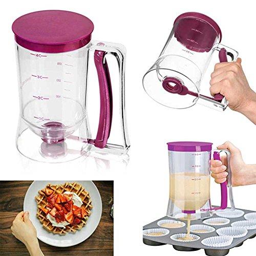 Cupcake de masa de dispensador, dispensador de masa, 1piezas, transparente de color rosa & # xff08; 4de Cup/900Ml & # xff09;