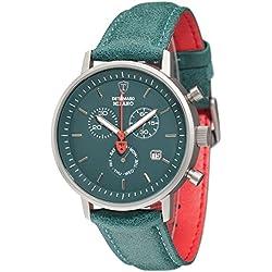 DeTomaso Men's Quartz Watch Chronograph Display and Leather Strap DT1052-S