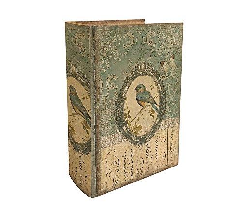 Hohles Buch mit Geheimfach Vogel Buchversteck Nostalgie 21cm