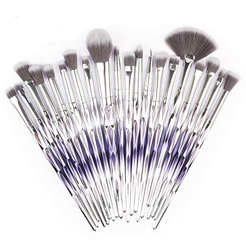 HARRYSTORE 20Pc Make-up Pinsel Set Powder Foundation Lidschatten Eyeliner Lip Kosmetik Pinsel