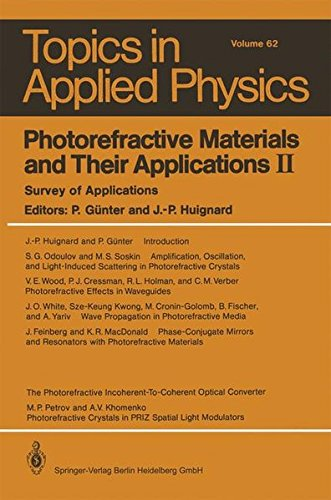 Photorefractive Materials and Their Applications II: Survey of Applications (Topics in Applied Physics, Band 62)