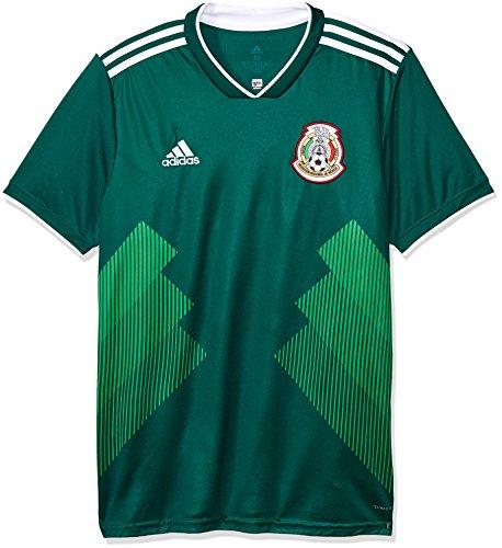 adidas Herren Mexiko Heimtrikot, Cgreen/White, XL -