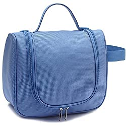 Okayji Unisex Toiletry Cosmetic & Makeup Travel Bag (Blue)