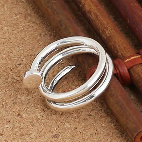 Laogg Einstellbar Ringe S925 Sterlingsilber Mode Dame zarte Lange Nägel drehen Zeigefinger Ring Freunde Geburtstag Abschluss Geschenke