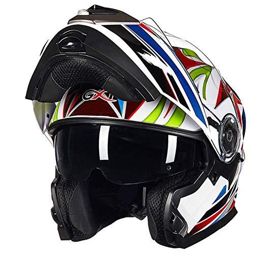 Casco moto fuoristrada anti-appannamento Casco moto cross adulto anti-aderenza per casco integrale per tutte le stagioni Casco Moto di sicurezz
