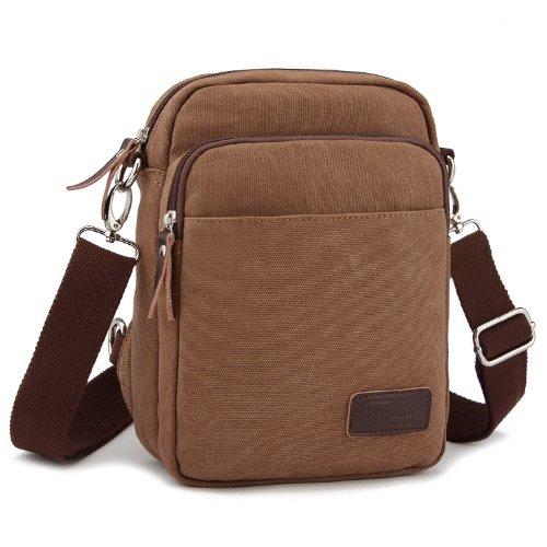 Tela sacchetti borsa a tracolla borsa A-body sacchetti Caffè