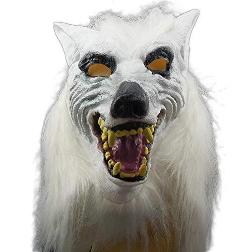 Childs Kostüm Wolf - Newhaa Halloween Maske Kostüm Prom Maske Weiß Voller Kopf Wolf Kopfbedeckung