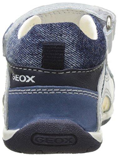 Geox B Sandal Tapuz Boy A, Scarpe Primi Passi Bimbo Bianco (WHITE/NAVYC0899)