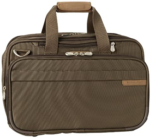 Briggs & Riley Baseline Expandable Cabin Bag Hand Luggage, 42 cm, 40.2 L, Olive