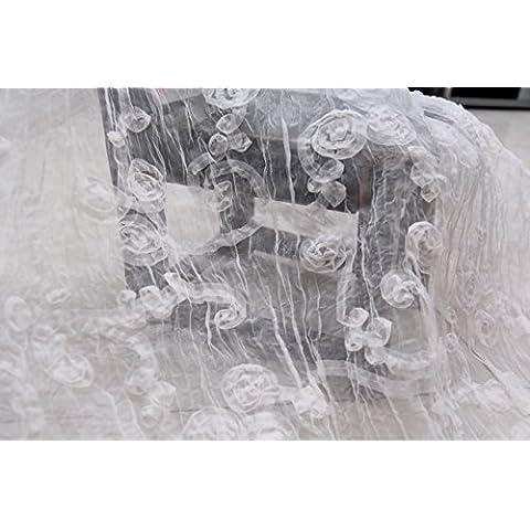 Nuovo Eugen tessuto filato sposa pannello esterno del vestito vestito chiaro fiore rosa disco bianco (Dobby Pizzo)