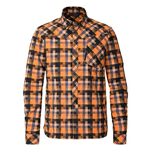 KJUS Herren Flanellhemd Funktionsshirt Men FRX Shirt MS25-A12 orange Gr. S