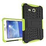 XITODA Samsung Galaxy Tab 3 Lite 7.0 Hülle, Hybrid PC + TPU Silikon Hülle Mit Stand Schutzhülle für Galaxy Tab 3 Lite 7.0 SM-T110/T111/T113/T116 Case Cover Tasche(Nicht für Galaxy Tab 3 7.0) - Grün
