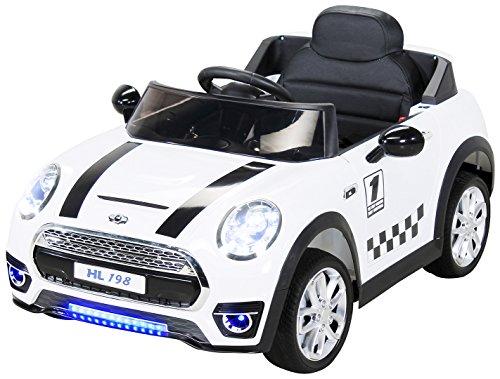 RC Kinderauto kaufen Kinderauto Bild 1: Actionbikes Motors Kinder Elektroauto Mini Cooper Eva Reifen Ledersitz Kinderfahrzeug Kinderauto in vielen Farben (Weiß)*