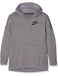 Nike G Nsw Tch Flc Hdy Oth - Sudadera para niña, color gris, talla XS