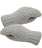 Fiebig Damenhandschuhe Handschuhe Fausthandschuhe Fäustlinge Fäustel Winterhandschuhe einfarbig gefüttert für Frauen (FI-59540-W16-DA0-4-OS) in Beige, Größe OS inkl. EveryHead-Hutfibel