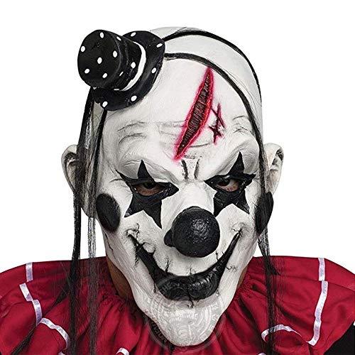 Lustige Böse Erwachsene Latex Haar Mörder Joker Clown Kostüm Maske Geisterkarneval Party Cosplay Maske Dekorationen Zubehör (Böse Clown Kostüm)