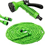 50 Ft Expandable Hose Pipe Nozzle For Garden Wash Car Bike With Spray Gun And 7 Adjustable Modes