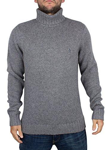 original-penguin-homme-laine-douce-blend-col-roule-en-tricot-gris-medium