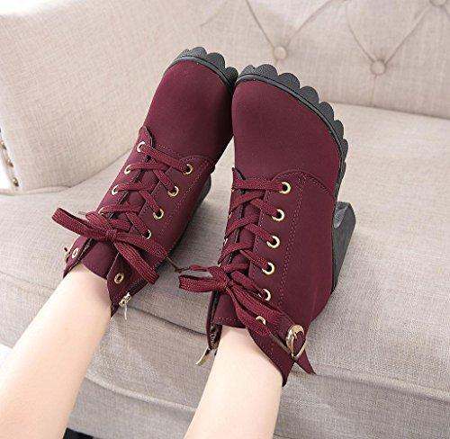 Damen Stiefel Covermason Hoher Absatz Schuhe Rot