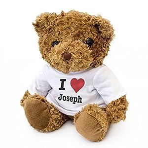 London Teddy Bears Oso de Peluche con Texto en inglés I Love Joseph - Cute and Cuddly - Regalo de cumpleaños para San Valentín
