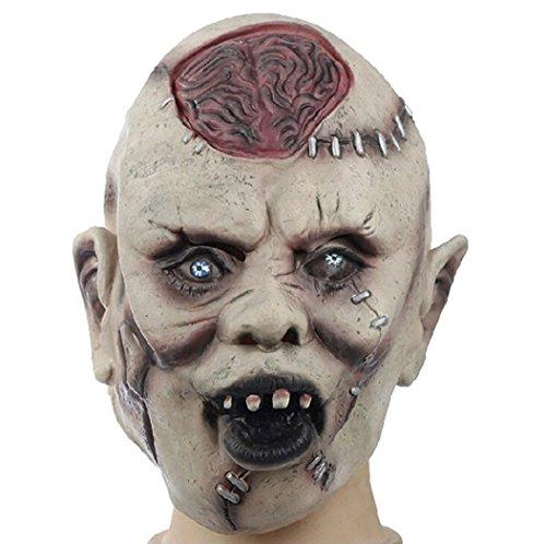 Estwell Halloween Maske Horror Latex Gruselig Teufel Maske für Halloween Karneval Cosplay