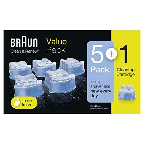 Braun Clean und Renew CCR Kartuschen, Nachfüllpackung, 5+1-Pack