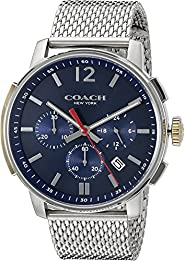 Coach Mens Quartz Watch, Chronograph Display and Stainless Steel Strap 14602022