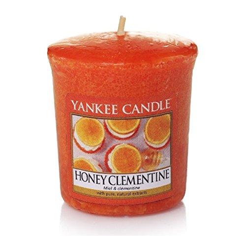 YANKEE CANDLE Miel Clementine Velas perfumadas Velas, Color Naranja