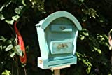 Süßer HBK-RD-BLAU Briefkasten aus Holz groß Holz amazon blau marineblau hell Briefkästen Holzbriefkästen Postkasten Runddach - passt auch zu vielen Vogelhäusern Vogelhaus Insektenhotel Insektenhotels Vogelhäuser aus Holz Ergänzung für Vogelhäuschen und Vogelfutterhaus Nistkasten Meisenkasten mit echt Holzschindel