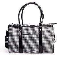 ZZHH PU leather trasportini cane zaino borsa portatile . black