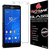 TECHGEAR� Sony Xperia Z3 Compact GLASS Edition Genuine Tempered Glass Screen Protector Guard Cover (Models: D5803, D5833)