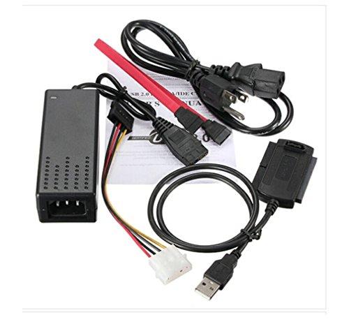 """HaoYiShang USB 2.0 A IDE SATA 2.5 3.5 convertidor de adaptador de cable para 3.5 """"2.5 HDD/SSD disco duro CD/DVD-ROM/CD-RW combinado de unidad"""