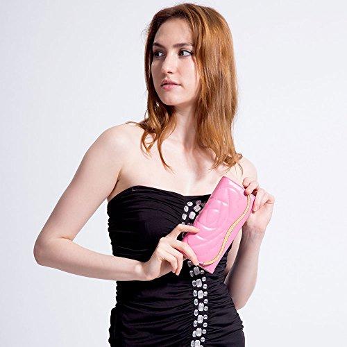 MaiJin Elegante Fiore Modello PU Pelle Portafoglio Donna Rosa