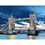 #9: Pitaara Box Tower Bridge In London, UK - MEDIUM Size 18.6 inch x 14.0 inch - FRAMED CANVAS Wall Paintings with 6mm (0.24 inch) THICK MDF MOUNTING FRAME : DIGITAL PRINT Wall Posters Art Panel like Hand Paintings : Home Interior Wall Décor Photo Gifts & Decorative Paintings for Bedroom, Living Room, Drawing, Dining Room, Kitchen, Office, Reception, Bathroom, Outdoor, Gallery, Hotels, Restaurants, & Balcony : Places : Photography