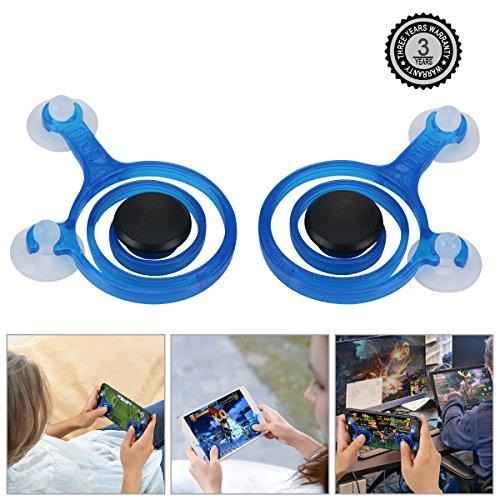Preisvergleich Produktbild Spielzeug FüR Handy-Joysticks Mini - Tragbare Touch-Screen-Game-Controller FüR Alle Smartphone (Blau)