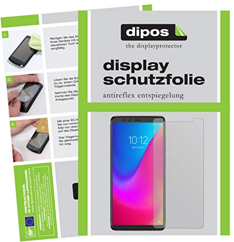 dipos I 2X Schutzfolie matt passend für Lenovo K5 Pro Folie Displayschutzfolie