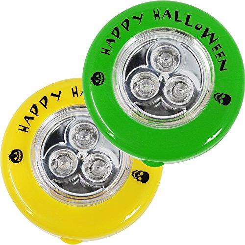 COM-FOUR® 2x LED Kürbis-Lampen, Ersatz LED-Lichter für ausgehölte und geschnitzte Kürbisse zu Halloween (02 (Halloween Led Lichter)